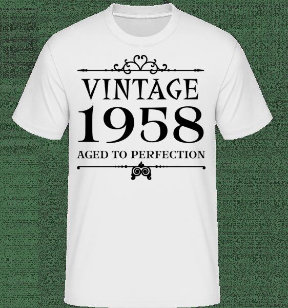 Vintage 1958 Perfection -  Shirtinator Men's T-Shirt - White - Vorn