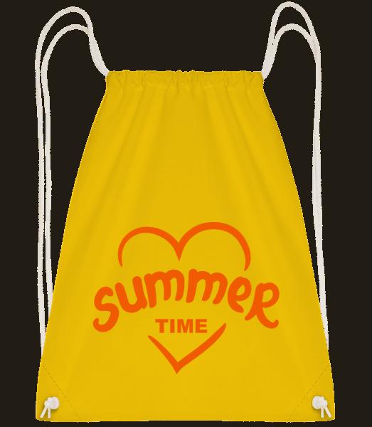 Summertime Heart - Drawstring batoh so šnúrkami - Žltá - Predné