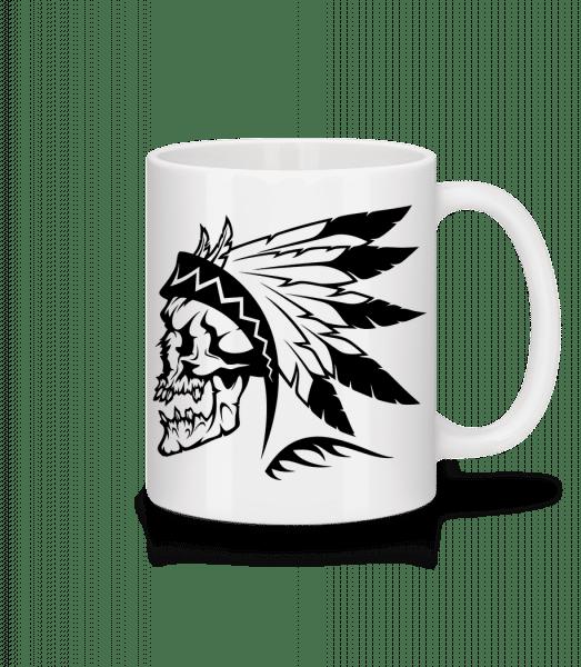 Wild West Skull - Mug - White - Vorn