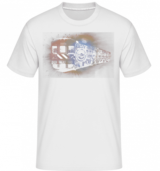 Ghetto Blaster Train -  T-Shirt Shirtinator homme - Blanc - Devant