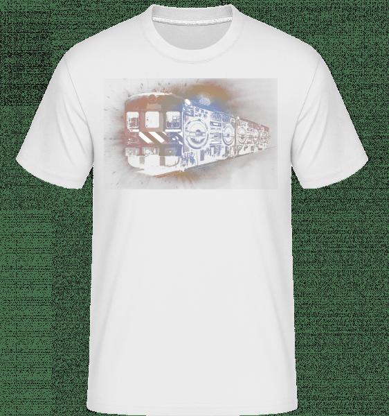 Ghetto Blaster Zug - Shirtinator Männer T-Shirt - Weiß - Vorn