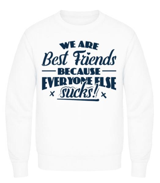 We Are Best Friends - Men's Sweatshirt - White - Front