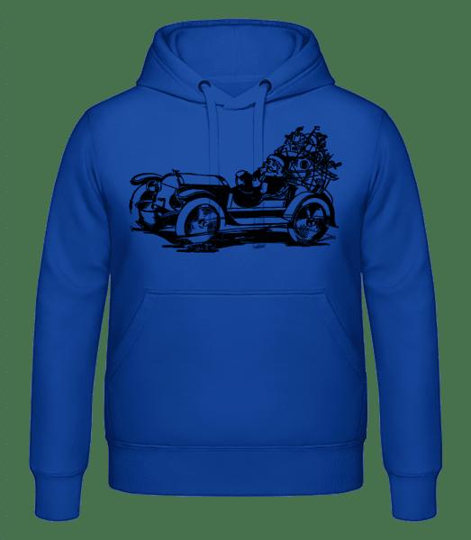 Weihnachten Oldtimer - Männer Hoodie - Royalblau - Vorn