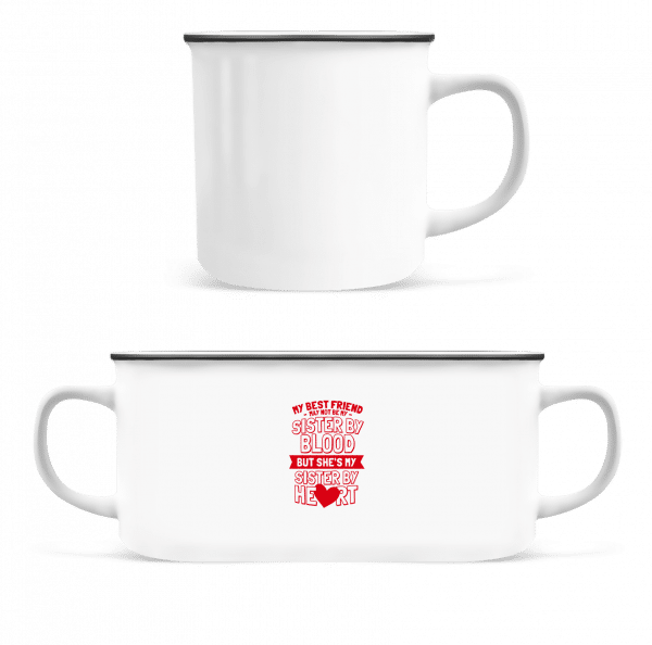 My Sister By Heart - Enamel-cup - White - Front