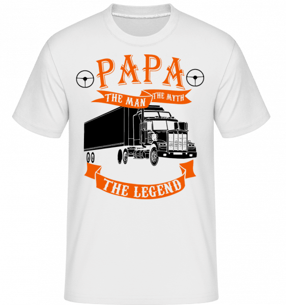 Papa The Legend -  Shirtinator Men's T-Shirt - White - Vorn