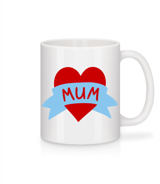 Mum Heart Icon - Mug - White - Vorn