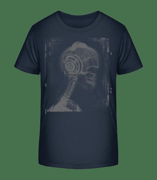 Skeleton Music - Kid's Premium Bio T-Shirt - Navy - Vorn