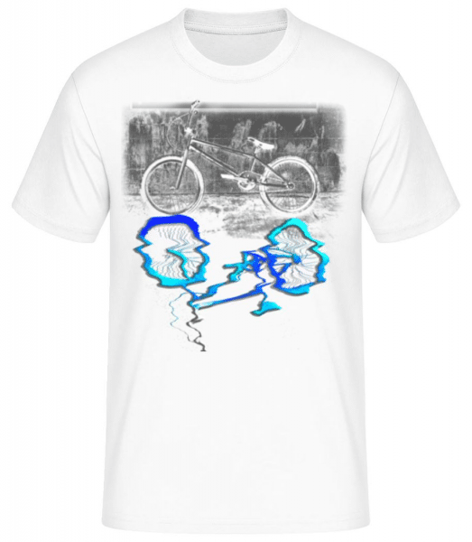 Bicycle Puddle - Men's Basic T-Shirt - White - Front