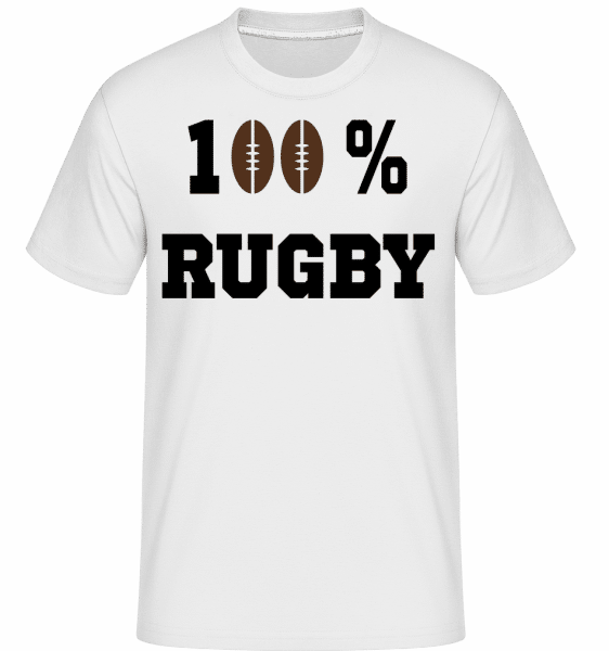 100 % Rugby -  Shirtinator Men's T-Shirt - White - Front