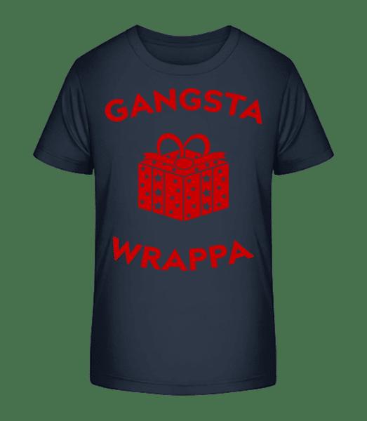 Gangsta Wrappa - Kid's Premium Bio T-Shirt - Navy - Vorn
