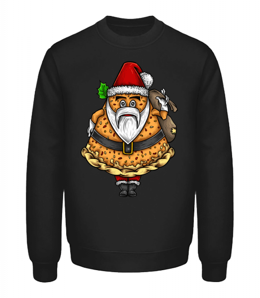 Pizza Santa Claus - Unisex Sweatshirt - Black - Vorn