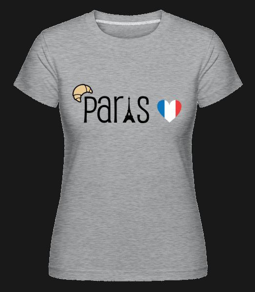 Paris Logo -  Shirtinator Women's T-Shirt - Heather grey - Vorn