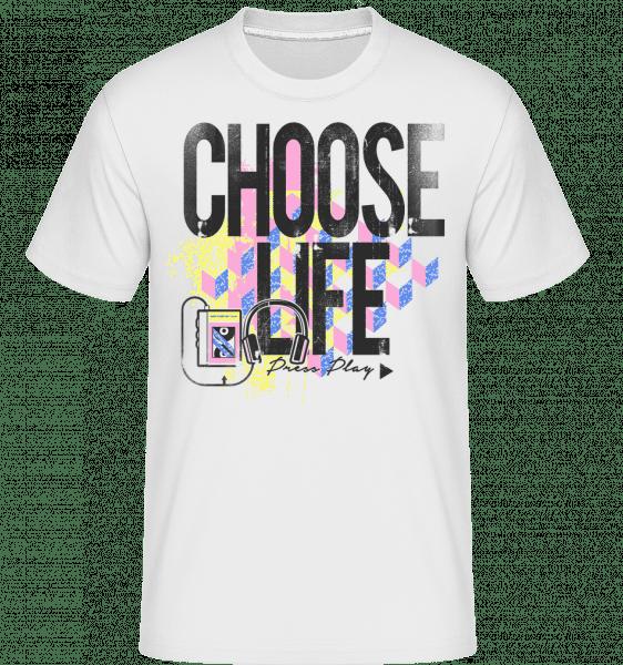 Choose Life -  Shirtinator Men's T-Shirt - White - Vorn