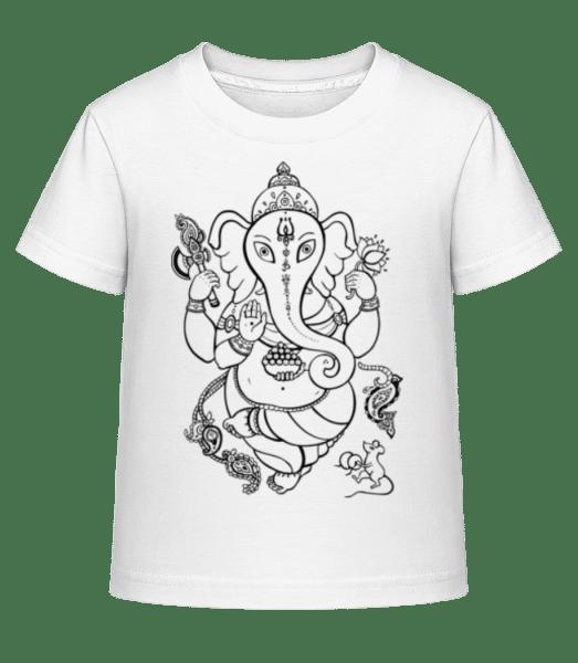 Indian Elephant - T-shirt shirtinator Enfant - Blanc - Vorn