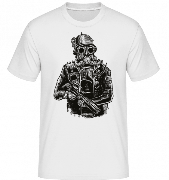 Steampunk Soldier -  Shirtinator tričko pre pánov - Biela - Predné