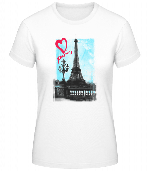 Amour Parisien - Basic T-Shirt - White - Vorn