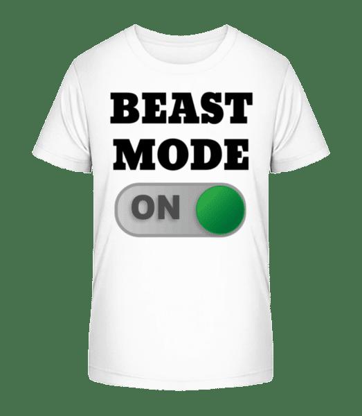 Beast Mode On - Kid's Premium Bio T-Shirt - White - Front