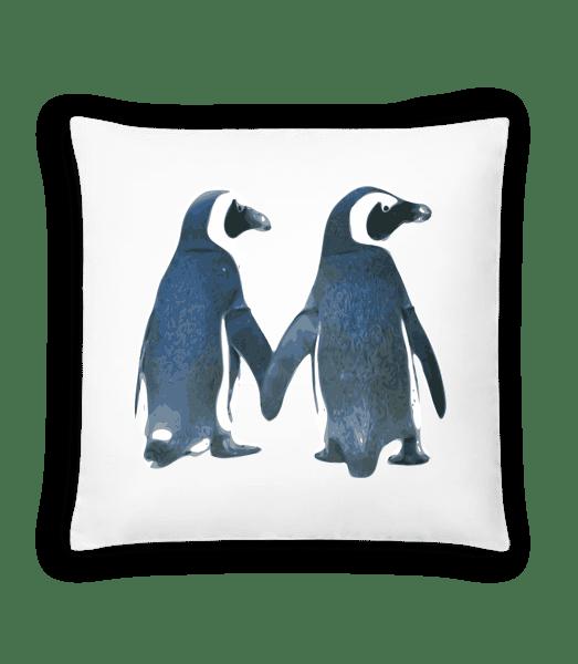 Pinguin Paar - Kissen - Weiß - Vorn