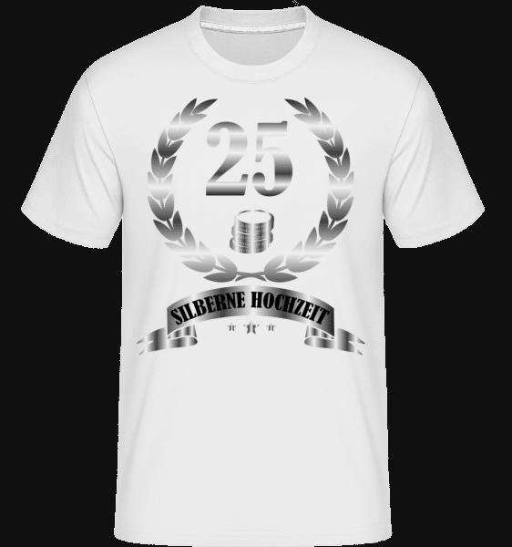 25 Jahre Silberne Hochzeit - Shirtinator Männer T-Shirt - Weiß - Vorn