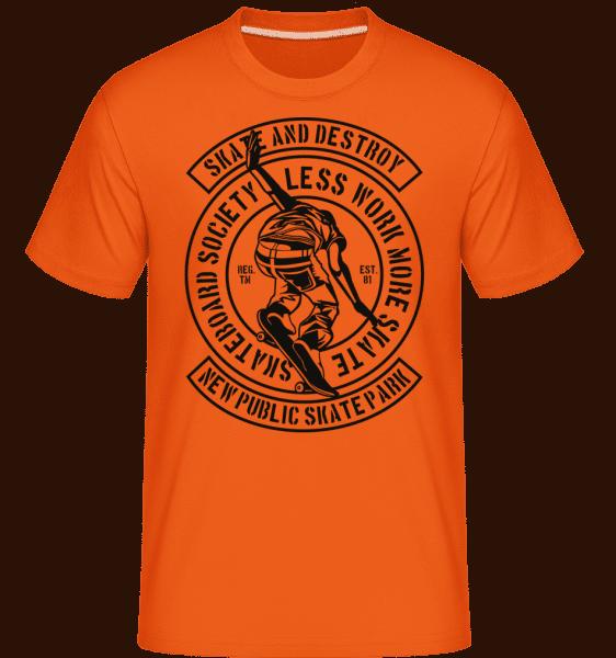 Skate And Destroy -  Shirtinator Men's T-Shirt - Orange - Front