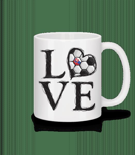 Football Love Slovakia - Mug - White - Vorn