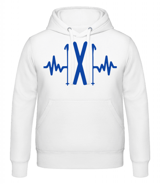 Ski Heartbeat - Hoodie - White - Vorn