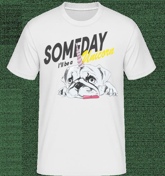 Someday I'll Be A Unicorn -  Shirtinator Men's T-Shirt - White - Vorn