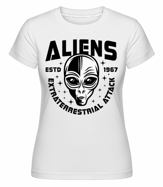 Aliens Estd 1967 -  Shirtinator Women's T-Shirt - White - Vorn