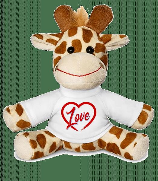 Heart Love - Giraffe - Weiß - Vorn