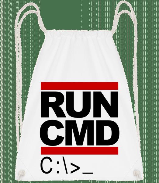Run CMD - Turnbeutel - Weiß - Vorn