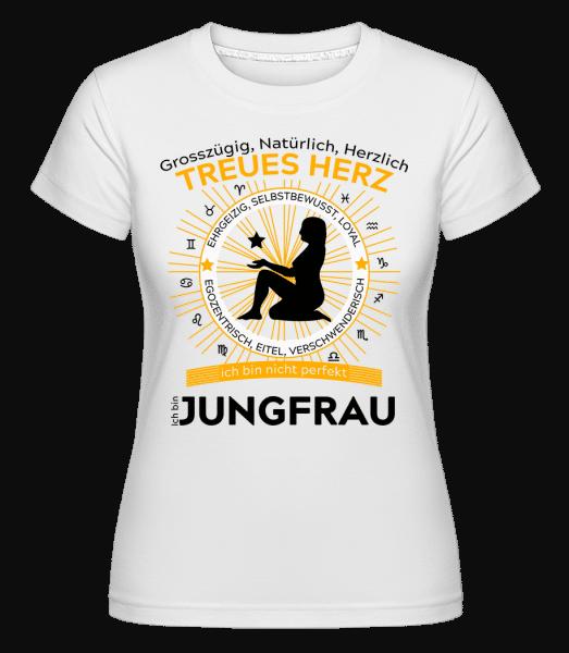 Sternzeichen Jungfrau - Shirtinator Frauen T-Shirt - Weiß - Vorn