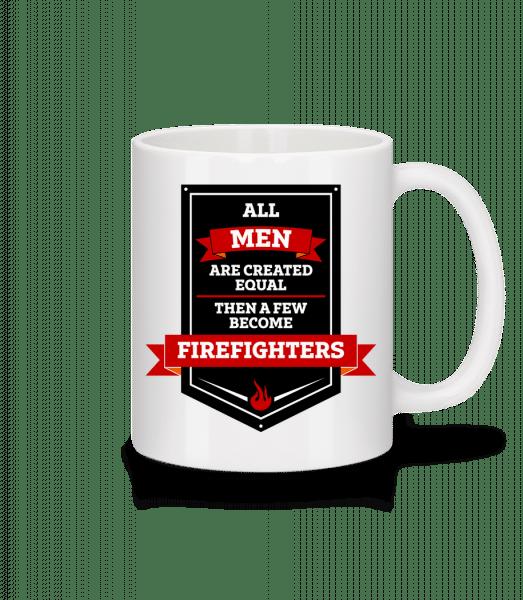 Best Men Are Firefighters - Tasse - Weiß - Vorn