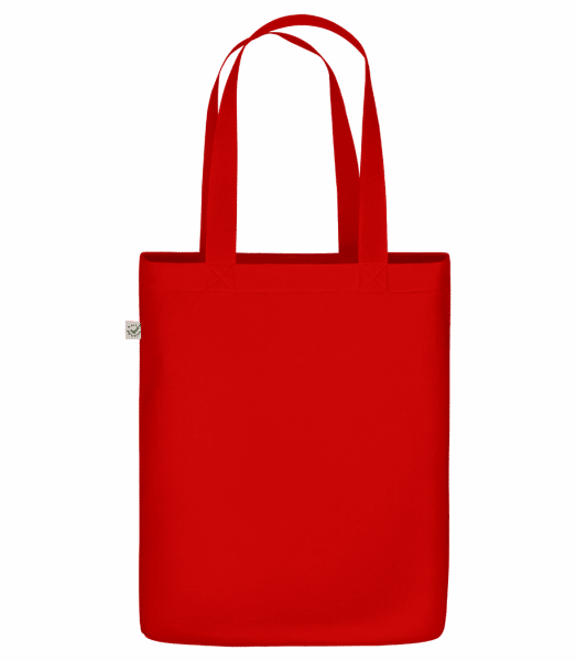 """Organic """"Earth Positive"""" tote bag - Red - Vorn"""