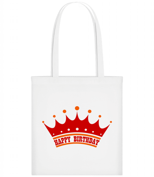 Happy Birthday Crown - Carrier Bag - White - Vorn