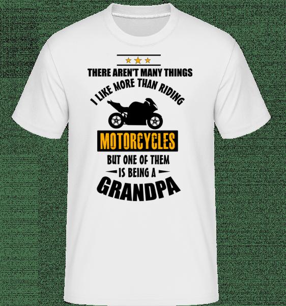 cyklistika Dedko -  Shirtinator tričko pre pánov - Biela - Predné