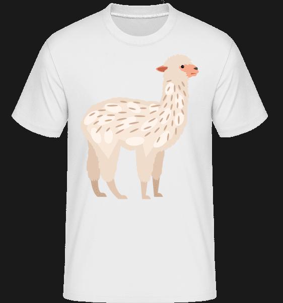 Alpaca -  Shirtinator Men's T-Shirt - White - Vorn