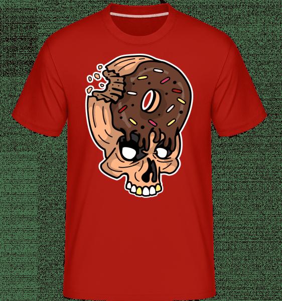 Skull Donut -  Shirtinator Men's T-Shirt - Red - Front