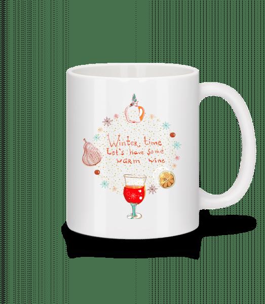Warm Wine Winter Time - Mug - White - Vorn