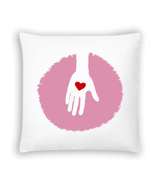 Hand With Heart - Cushion - White - Vorn