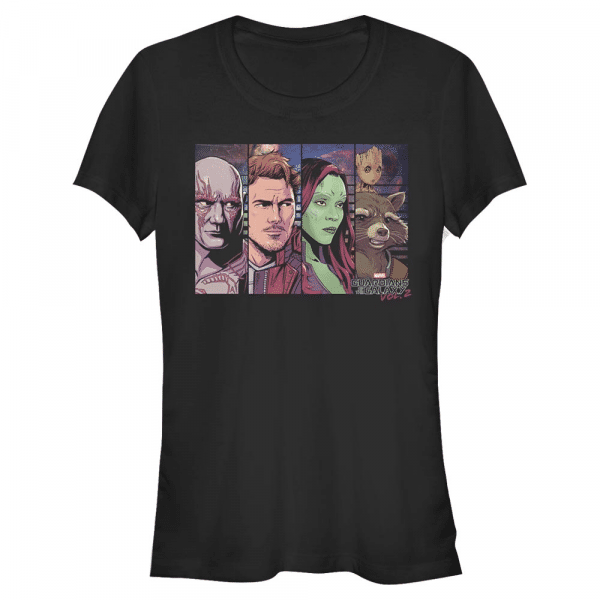 We is Boxed Group Shot - Marvel Guardians of the Galaxy - Women's T-Shirt - Black - Front