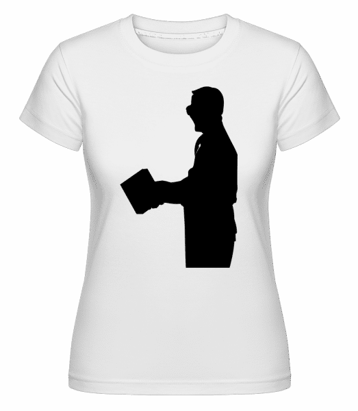 Teacher Silhouette Black -  Shirtinator Women's T-Shirt - White - Vorn