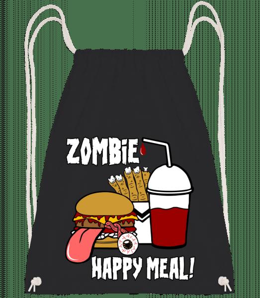 Zombie Happy Meal - Turnbeutel - Schwarz - Vorn