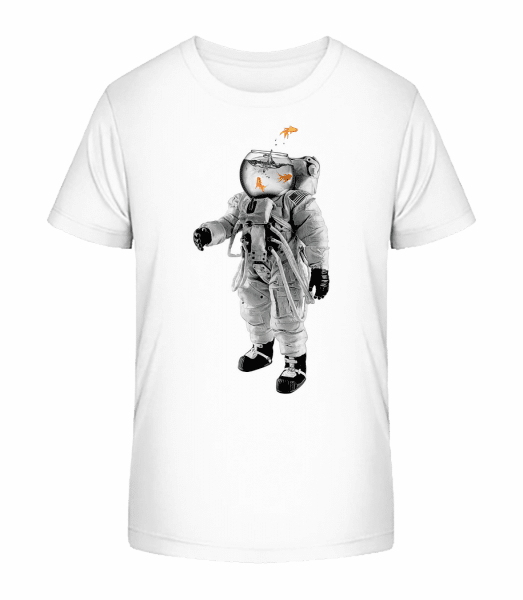 Goldfish Astronaut - Kid's Premium Bio T-Shirt - White - Vorn
