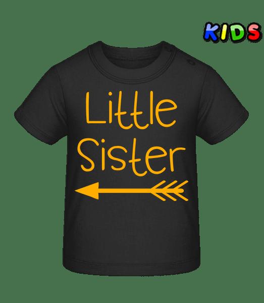 Little Sister - Baby T-Shirt - Black - Vorn