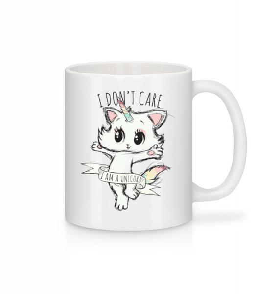 I Dont Care Unicorn - Mug - White - Front