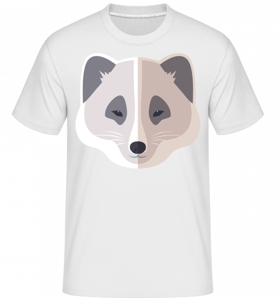 Racoon Comic Shadow -  Shirtinator Men's T-Shirt - White - Vorn