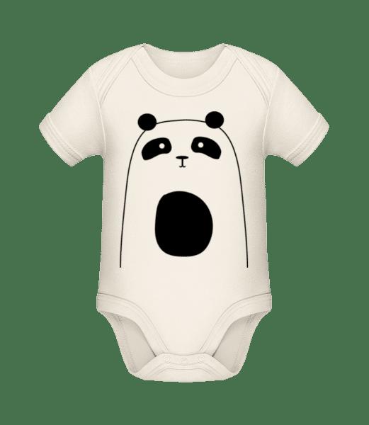 Cute Panda - Organic Baby Body - Cream - Vorn