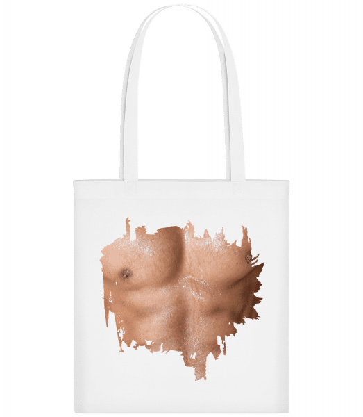 Muscle Body Man - Carrier Bag - White - Vorn