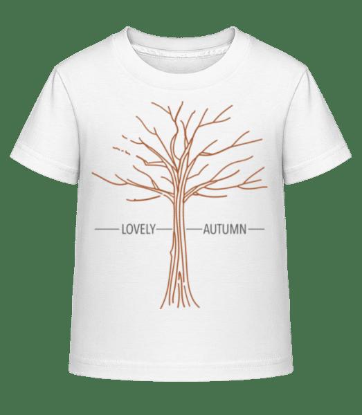 Lovely Autumn - Kid's Shirtinator T-Shirt - White - Vorn