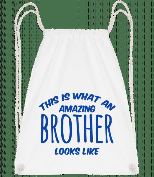 Amazing Brother Looks Like - Turnbeutel - Weiß - Vorn
